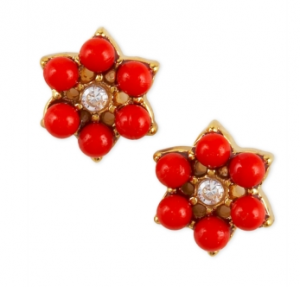 juicy couture flower stud earrings