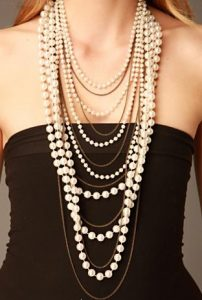 free people layered pearl necklace