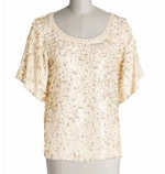 French Connection Raindrop Sequin Top