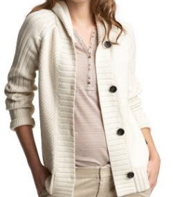 gap collar shawl cardigan