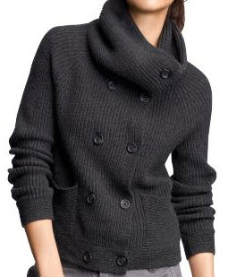 Gap Double Breasted Funnel cardigan