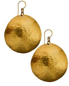 gold disk earrings 2