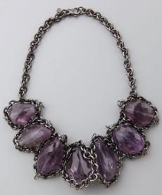 gracia amethyst necklace