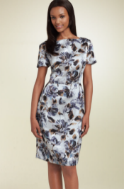 helene berman print sheath dress