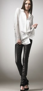 helmut lang leather pants