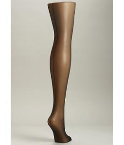 hue back seam sheer control top pantyhose