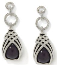 Iman Global Chic for HSN classic chic stone wrapped earrings