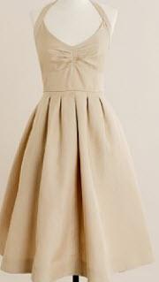 j crew beige dress