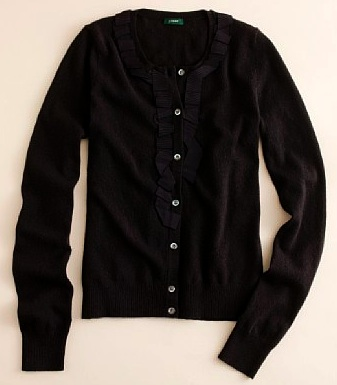 j crew ribbon cardigan