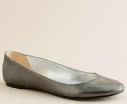j crew shimmerveil leather ballet flats