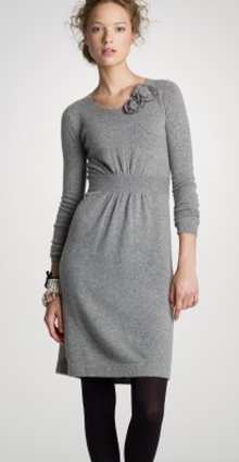 j crew sweater dress