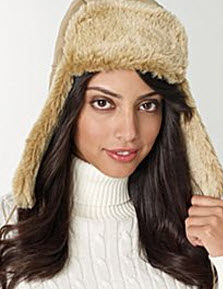 jc penney shearling trapper hat
