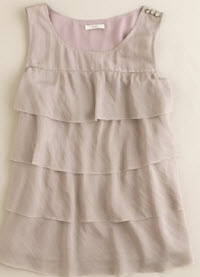 jcrew silk tiered top