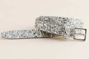 J. Crew crushed glitter belt