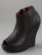 jeffrey campbell peep toe booties