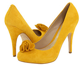 Joan and David demille shoes - yellow