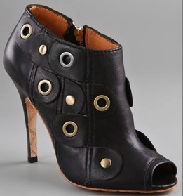 joelle open toe booties