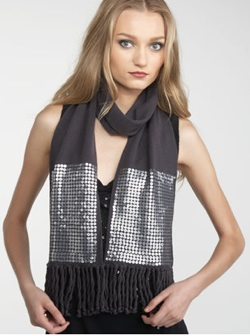 juicy couture sequin skinny scarf