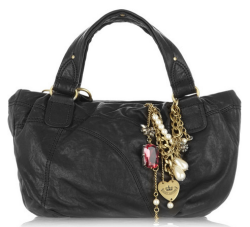 juicy etiquette small leather tote