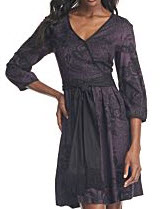 Kensie purple long sleeved dress