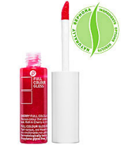 korres cherry full color lip gloss