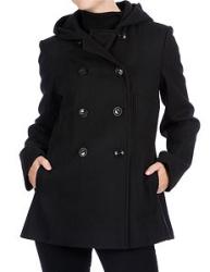 larry levine hooded coat