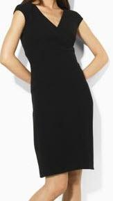 lauren by ralph lauren v-neck dress
