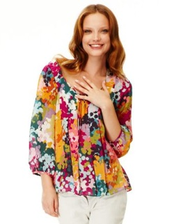 leifsdottir floral silk blouse