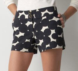 loft dot shorts