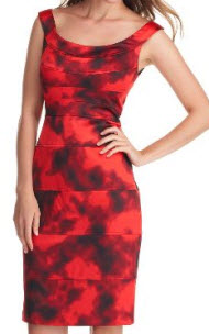 london times red floral dress