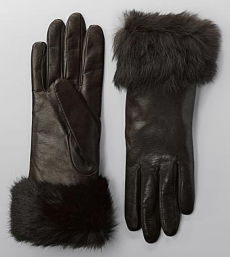 lord and taylor fur trimmed leather gloves