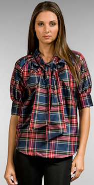 love moschino plaid top