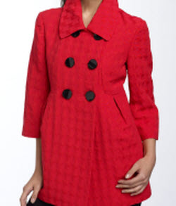 mac & jac houndstooth coat