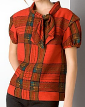 marc jacobs sketched plaid top