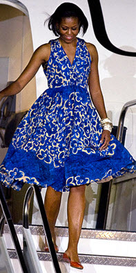 How Many Times In Your Life Do You Have The Chance To One Of First Lady Michelle S Dresses This Flirty Fl Tracy Reese Dress 275 Is