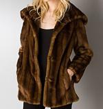 Aqua Faux Mink Fur Coat