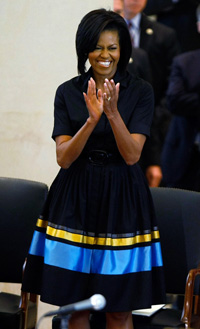 Michelle Obama in Sophie Theallet
