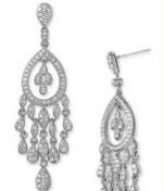 nadri crystal teardrop earrings