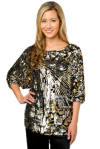 naeem khan sequin top
