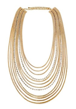 natasha accessories 12-row chain necklace