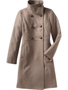 old navy double-breasted coat
