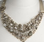 Juicy Couture sequin bib necklace