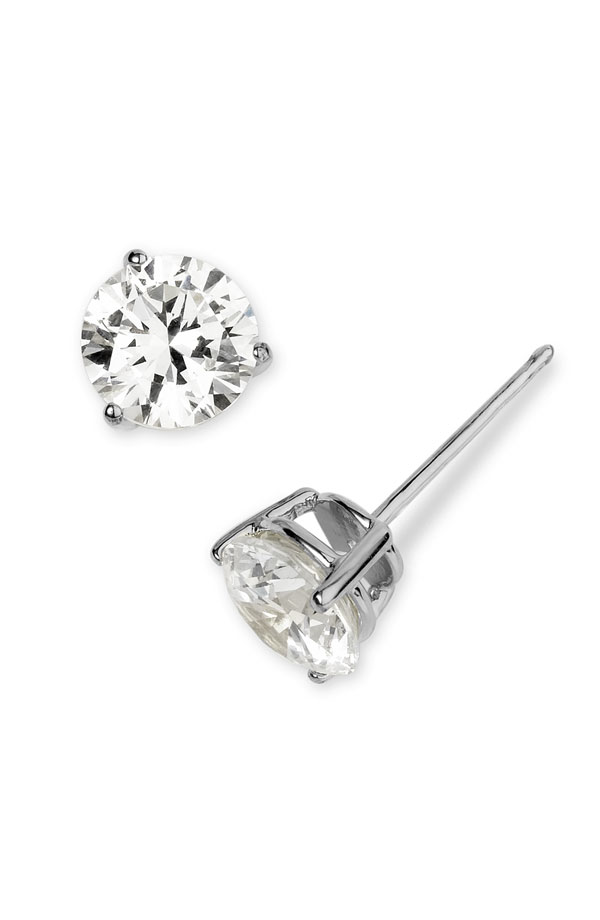 mykay luxurous cz sterling stud diamond prongs jewelry flower products earrings silver double