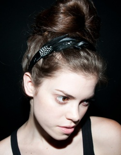 oak feather headband