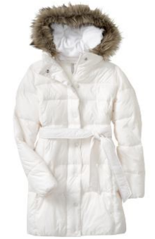 old navy frost free hooded coat