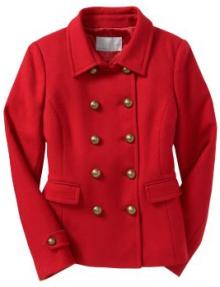old navy wool blend cadet jacket
