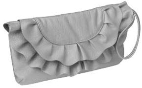 Old Navy Ruffled Faux-Leather clutch