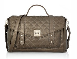 DKNY Quilted Leather Messenger