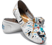 paint splattered toms