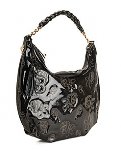 betsey johnson patent petals hobo